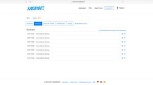 Backups WordPress Raidboxes