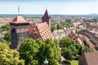 Blick von der der Nürnberger Kaiserburg
